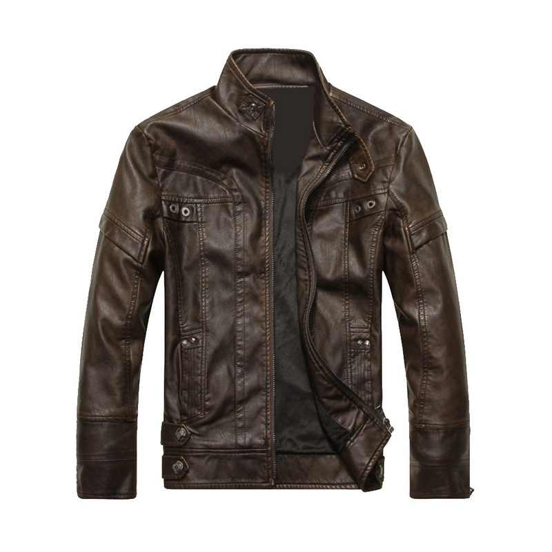WENYUJH New Arrive Brand Motorcycle Leather Jacket Men Men's Leather Jackets jaqueta de couro masculina Mens Leather Coats 2020