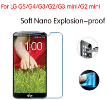 Never Broken Newest Nano Explosion proof Soft Screen Protector Cover Foil For LG G5 G4 G3