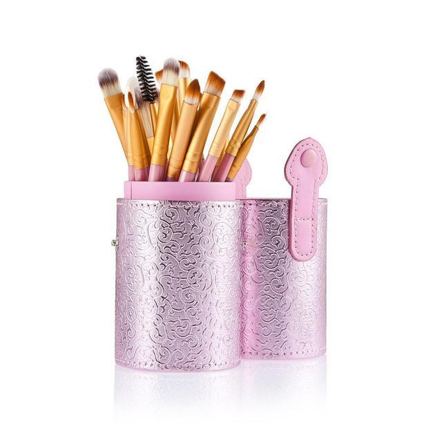 20 unids Maquillaje de Ojos Cepillo Pinceles de Maquillaje de Ojos En Polvo Fundación Pincel De Cosmética Con Estuche de Color Rosa Maquillaje Cepillo Conjunto