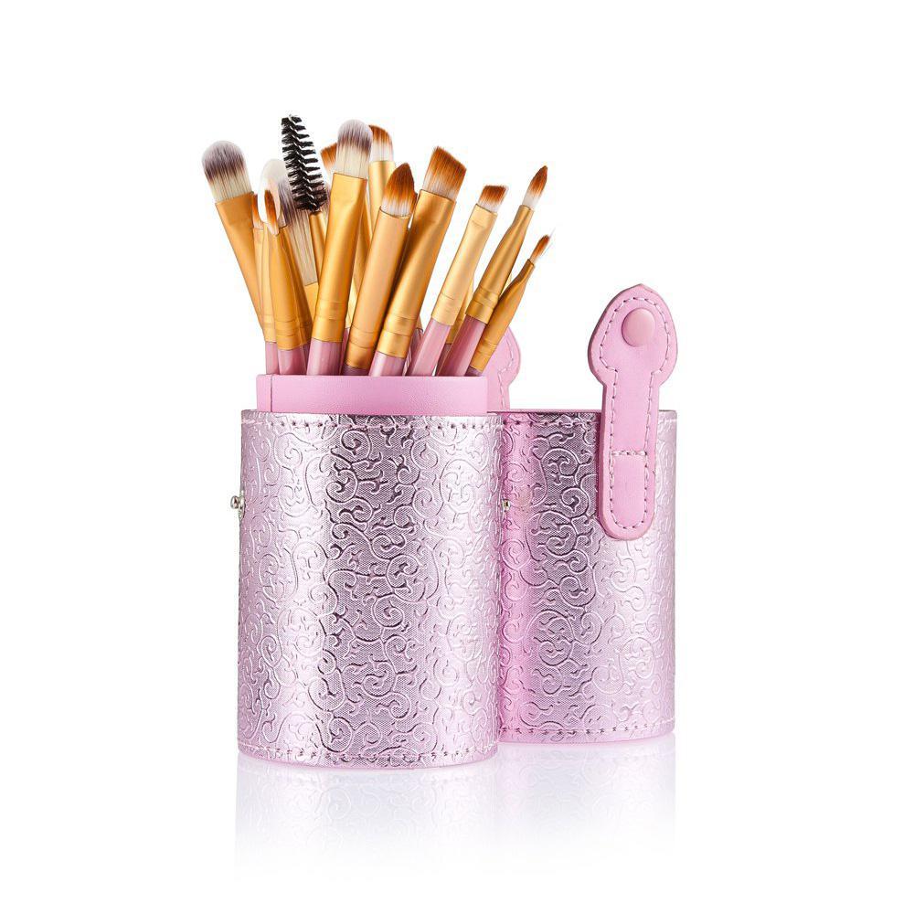 cosqueen 20pcs Eye Makeup Hairbrush Powder Eye Brushes Makeup Foundation Brush With Cosmetic Case Makeup Brush Set