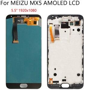 """Image 2 - 5,5 """"AMOLED для MEIZU MX5 M575M M575H ЖК дисплей кодирующий преобразователь сенсорного экрана в сборе запасная часть 100% протестированные Бесплатные инструменты"""