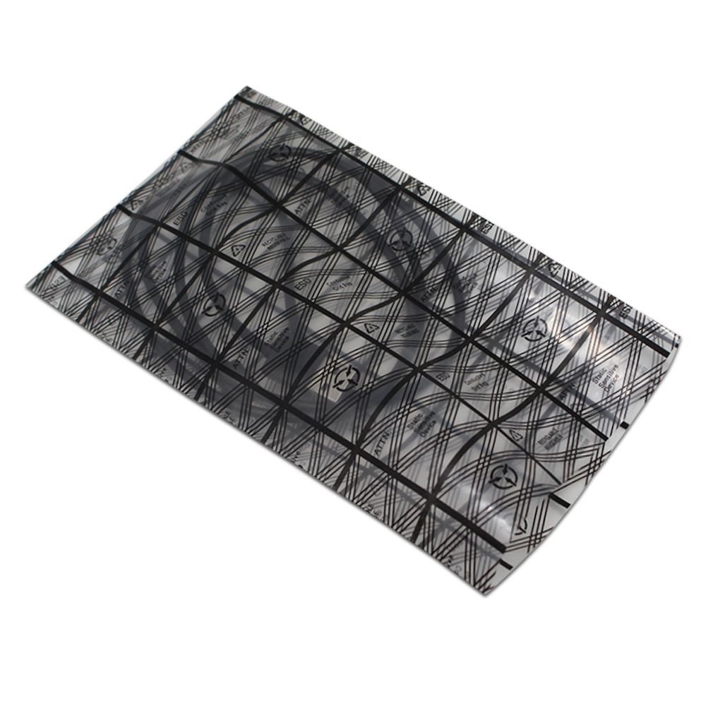 100pcs/lot Open Top Anti-static Grid Printed Shielding Plastic Bag Instrument Electronic Packing Pouches Antistatic Bag 11 sizes ...