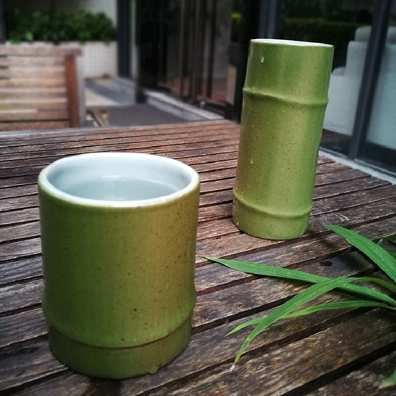 300ml handmade vintage ceramic porcelain and pottery mug 10 oz bamboo pattern mug coffee mug milk water tea cup drinkware