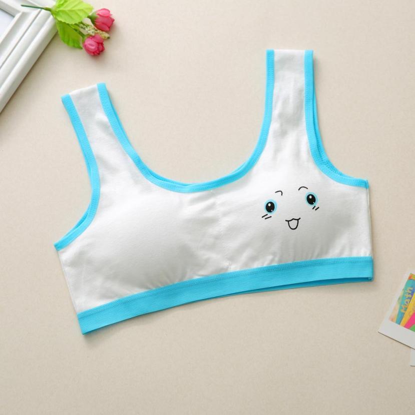 Kind Braunderwear Für Mädchen Bhs Kinder Tops Druck Taille Kinder Unterwäsche Bh Weste Kinder Teenager Mädchen Unterwäsche