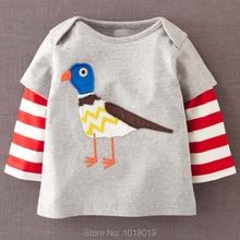 2018 nova Marca de Qualidade 100% Algodão Do Bebê Dos Meninos t-shirt Das Crianças camisa Dos Miúdos t Meninos Roupa Interior Do Bebê roupas de Manga Longa Bebe roupas