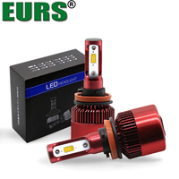 EURS Top Brand Guaranteed S2 Red CSP Chip 12V 24V 35W 6000LM 6000K LED Auto Light