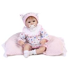 "Real touch 18"" 40cm Silicone adora Lifelike Bonecas Baby newborn realistic magnetic pacifier bebe bjd reborn dolls babies toy"