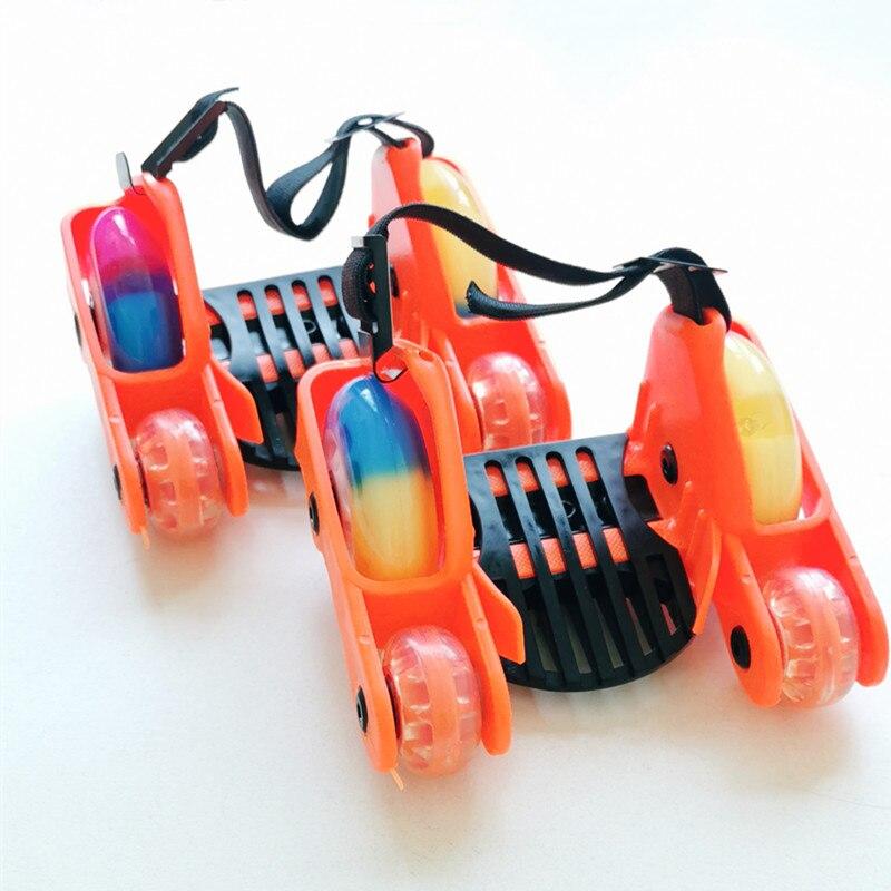 Enfants enfants clignotant chaussures de patinage à roulettes LED petit tourbillon poulie Flash roue talon patins à roulettes sport patin à roulettes chaussures