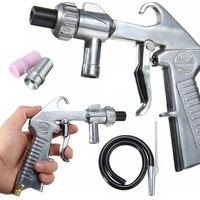 Mayitr Air Sandblaster Gun Kit Sets Sand Blaster Grit Blasting 3 Ceramic Steel Nozzles 1 Suction