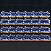 24 шт./упак.. Мужские бритвенные лезвия уход за лицом кассеты для бритья мужские бритвенные лезвия совместимы с gillettee Fusione proglide