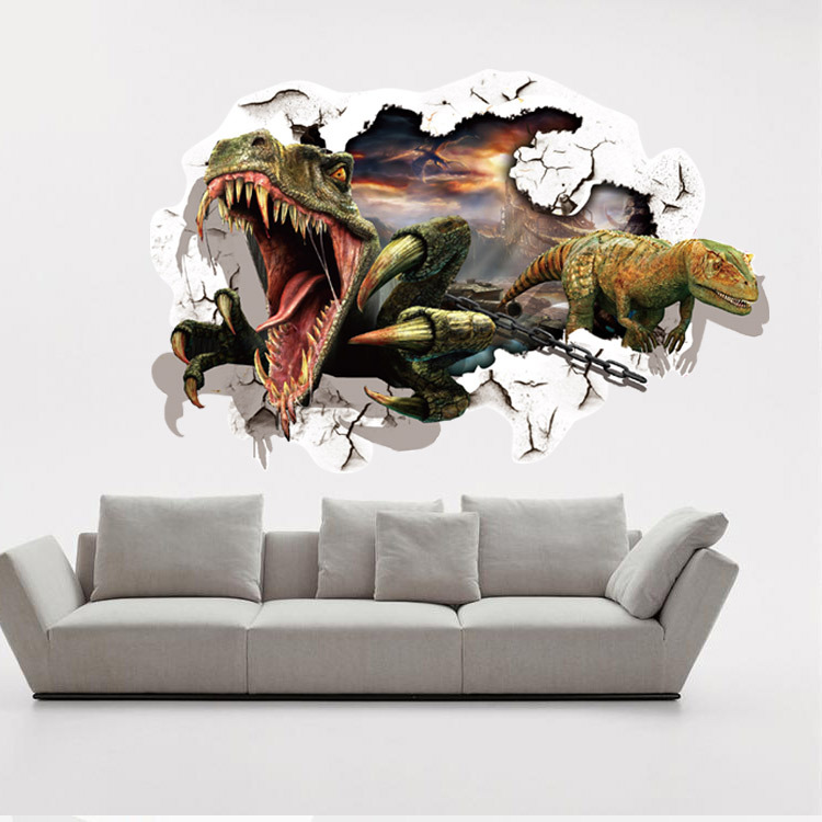 Jurassic Park wall stickers 3d dinosaur stickers for kids room ...