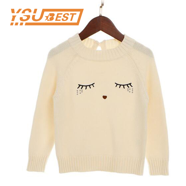 b926072e7 Baby Pullover Sweater New Girl Autumn Knitting Pullover Eyelash ...