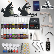 Professional tattoo kit 2 guns machines 20 ink sets power supply   D175GD-8
