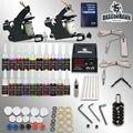 Profissional tattoo kit 2 armas máquinas 20 conjuntos de tinta de alimentação D175GD-8
