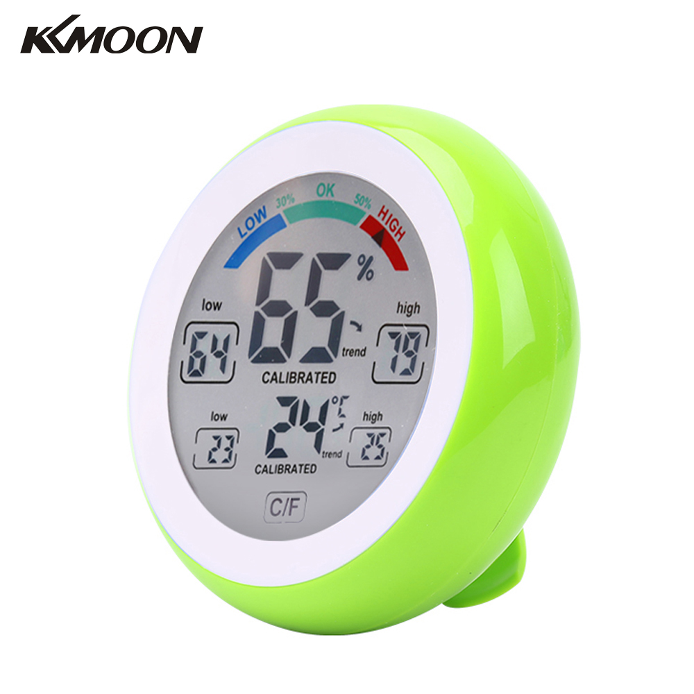 Digital Thermometer Hygrometer practical Temperature gauge Humidity Meter wall Max Min Value Trend Display C/Funit digital lcd display thermo hygrometer gm1360 temperature humidity meter moisture tester thermometer with max min mode