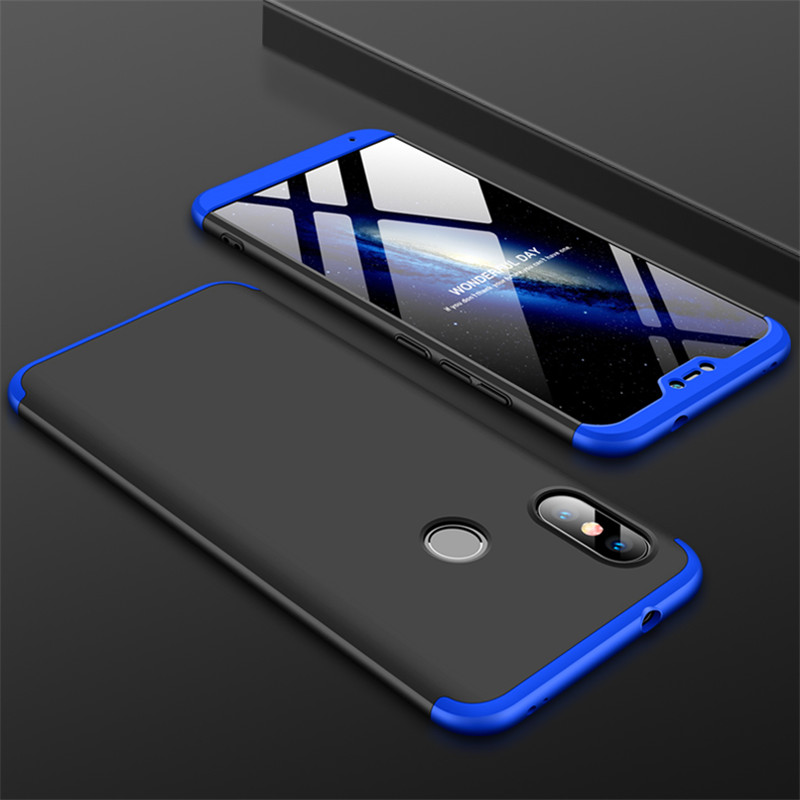 HTB1ikySXELrK1Rjy1zbq6AenFXaG 3-in-1 Case 360 for Xiaomi Mi A2 A3 lite Mi A2 A1 Phone Case Hard for Xiaomi Mi A1 A2 A3 Cover Tempered Glass Case Fully Cover