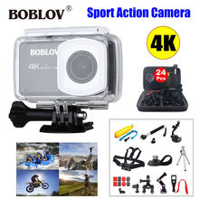 Boblov 2.45″ LCD Screen 170degree 4K 12MP HD 1080P WIFI Sportss Action Camera DVR Camcorder Waterproof + 24in1 Accessories Kits