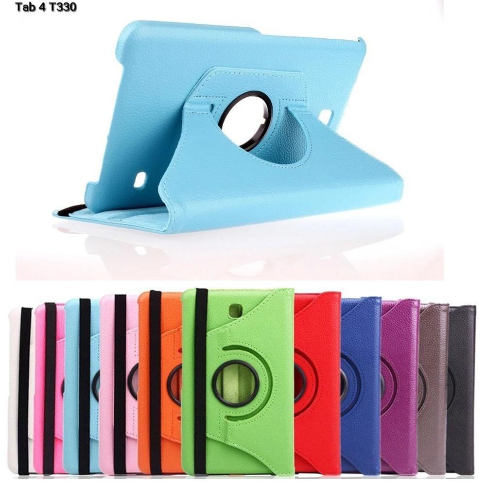 Coque de protection rotative en cuir pour tablette Samsung Galaxy Tab 4, 8.0 pouces, T330, T331, T335, support à 360 °, 8.0, SM-T330 #