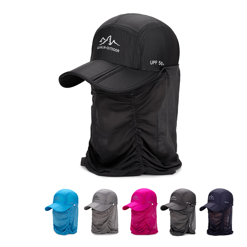 Foldable Cap Fishing-Hat Hiking Quick-Dry Summer with Flap Outdoor Sunshade Face-Neck-Cover