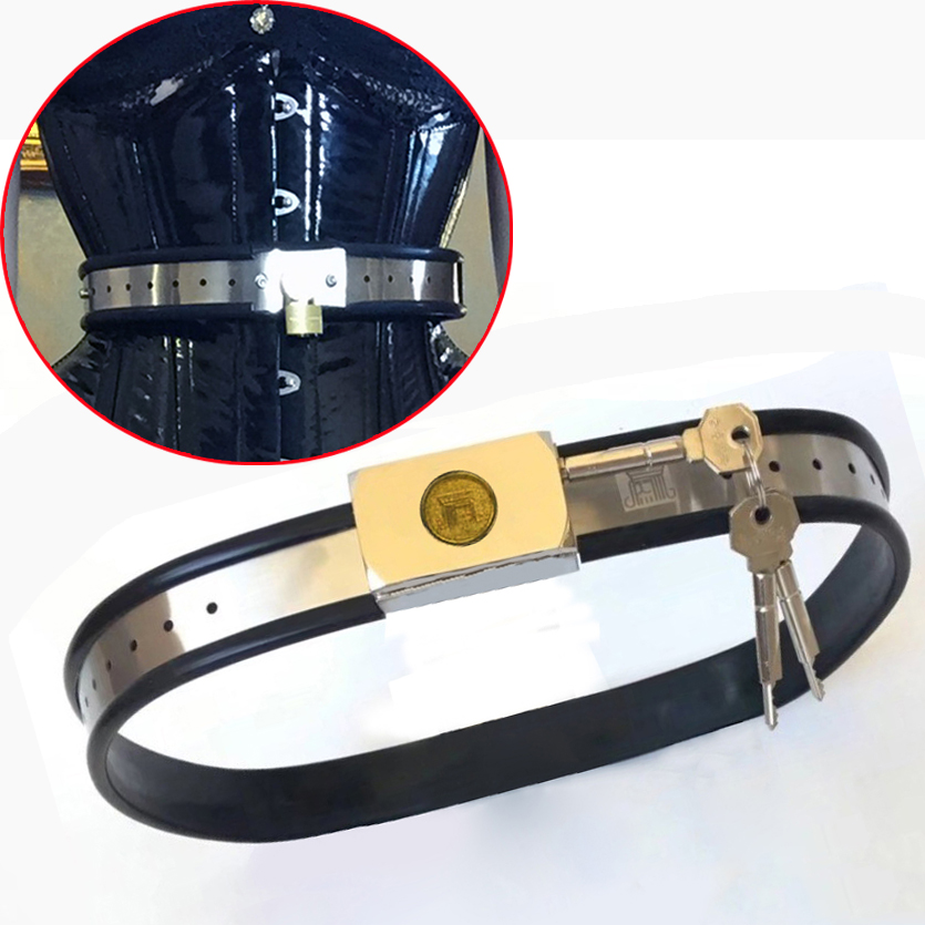 Adjustable Chastity Belt Stainless Steel Metal Waist Band Bondage Restraints For Woman Men Fetish Wear BDSM Tools Sex Products stainless steel 3pcs set female chastity belt bra thigh ring fetish wear bdsm bondage restraints kit for woman sex products