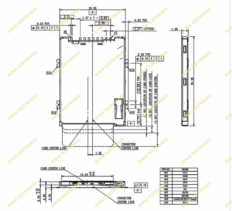 sim card reader circuit diagram 1985 kenworth w900 wiring diagrams 5pcs lot tablet notebook slot 8 1p 9p push socket aeproduct
