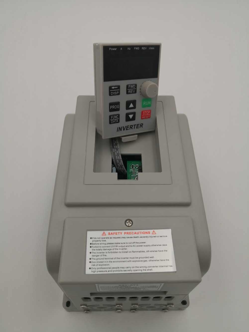 Преобразователь частоты VFD, преобразователь частоты ZW-AT1/220/4/кВт, 3P, выход в, для контроля скорости вращения шпинделя с ЧПУ