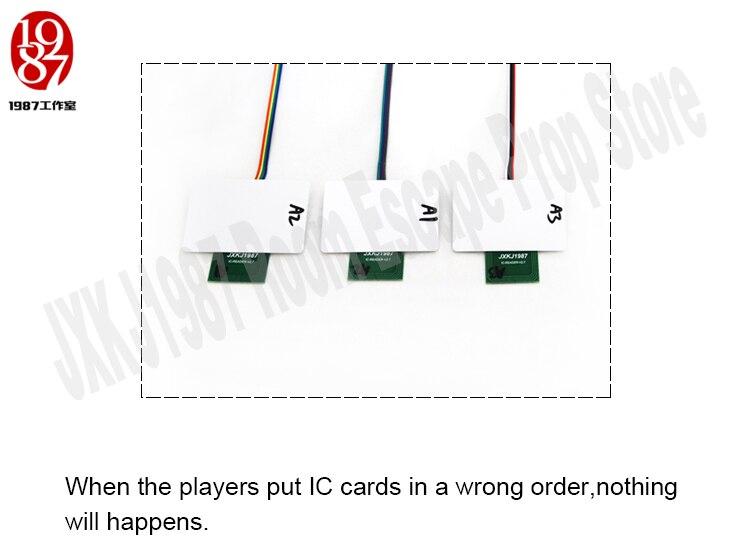rfid prop colocar quatro cartões ic em