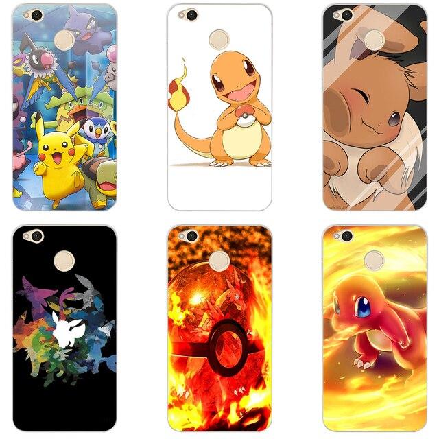 23gg pokemon pokeball hard transparent cover case for xiaomi redmi 5