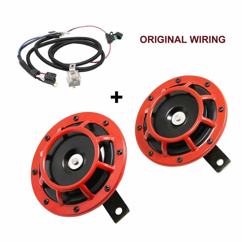 2pc Compact Electric Loud Blast 12V Grille Mount For Super Tone Hella Horn Ki ER