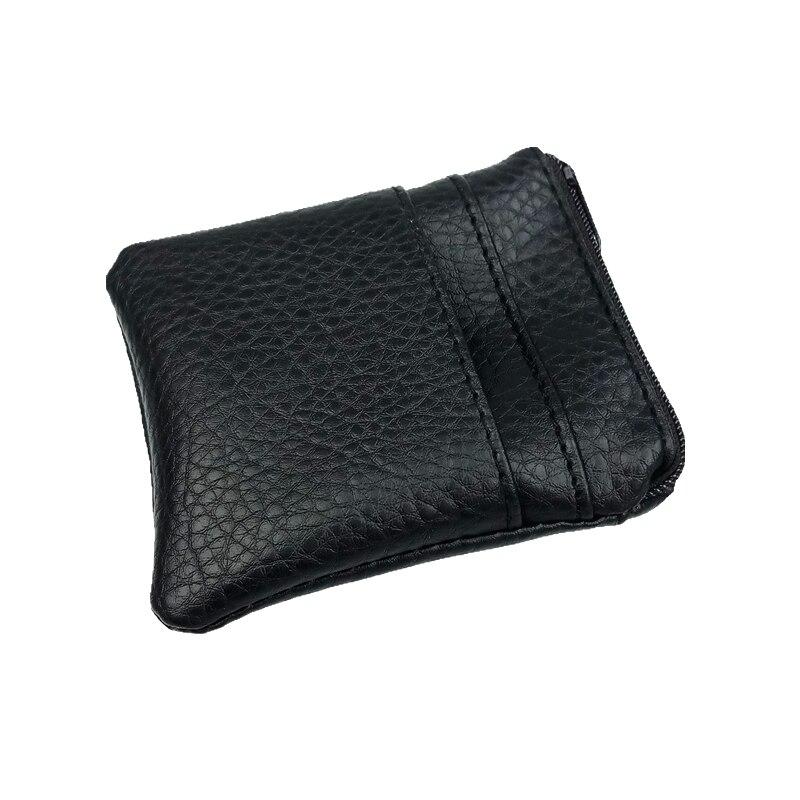 все цены на 2 Pcs/set 2018 Fashion Pu Leather Coin Purse Women Men Small Mini Short Wallet Bags Change Little Key Card Holder Black Business онлайн