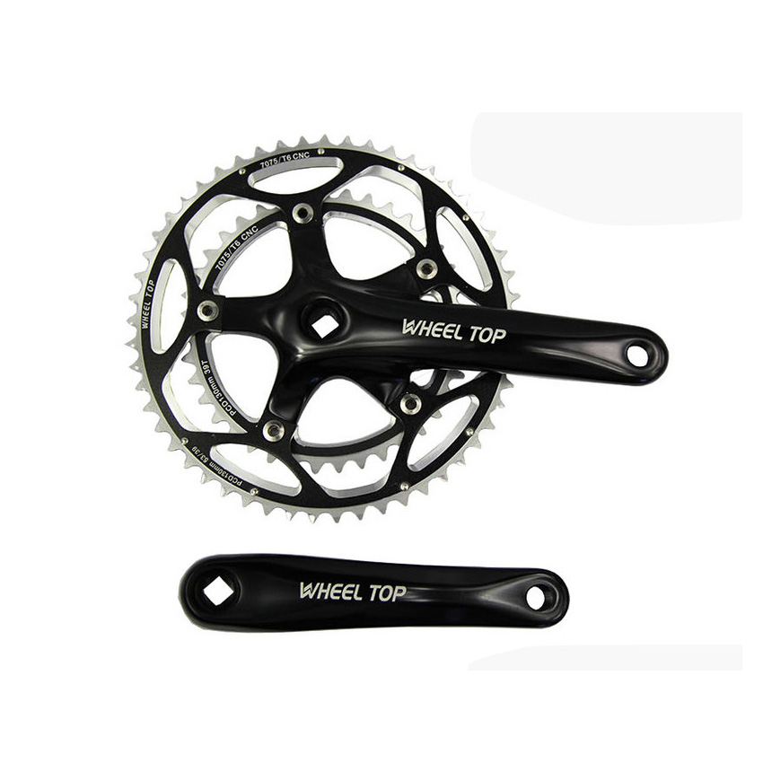 Crankset road bike gear chainring bolts Bicycle Parts 50-34T 9 speed mountain bike chainwheel BMX Cranks free shipping