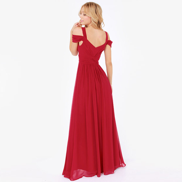 HAOYIHUI Brand New Summer Vestidos Floor Length Solid Dinner Sexy Dress Side Slit V Neck Spaghetti Strap Female Gown Dresses