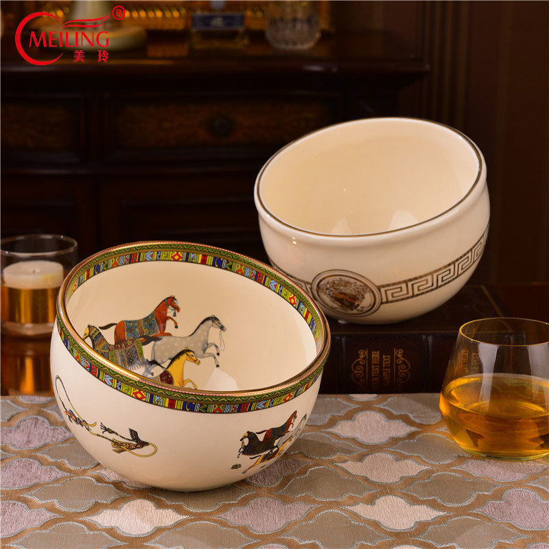 Luxury European Decorative Bowls For Dried Fruit Snack Peel Trinket Porcelain Organizer Container Dish For Table Kitchen Home
