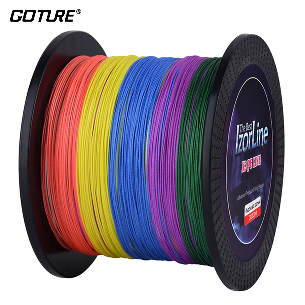 Goture IzorLine 8 Strands 500m 300m PE Braided Fishing Line Multifilament Super Strong Cords Carp Sea Lines 29-76LB
