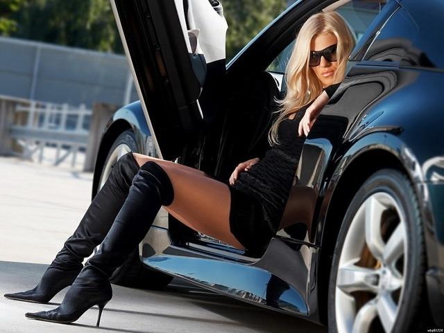 Hot girl hot car 4