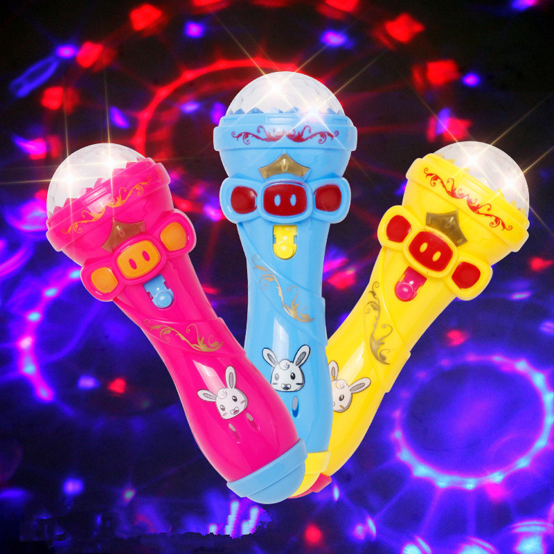 New Children Emulated Music Toys Funny Lighting Wireless Microphone Model Gift Music Karaoke Light Toys For Kids Gifts