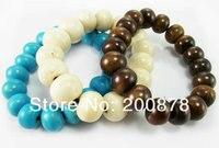 ББ-307 красочный тибетский кости яка круглый бисер браслет стренги, 10-12 мм, прекрасный сладкий моды, смешанный заказ