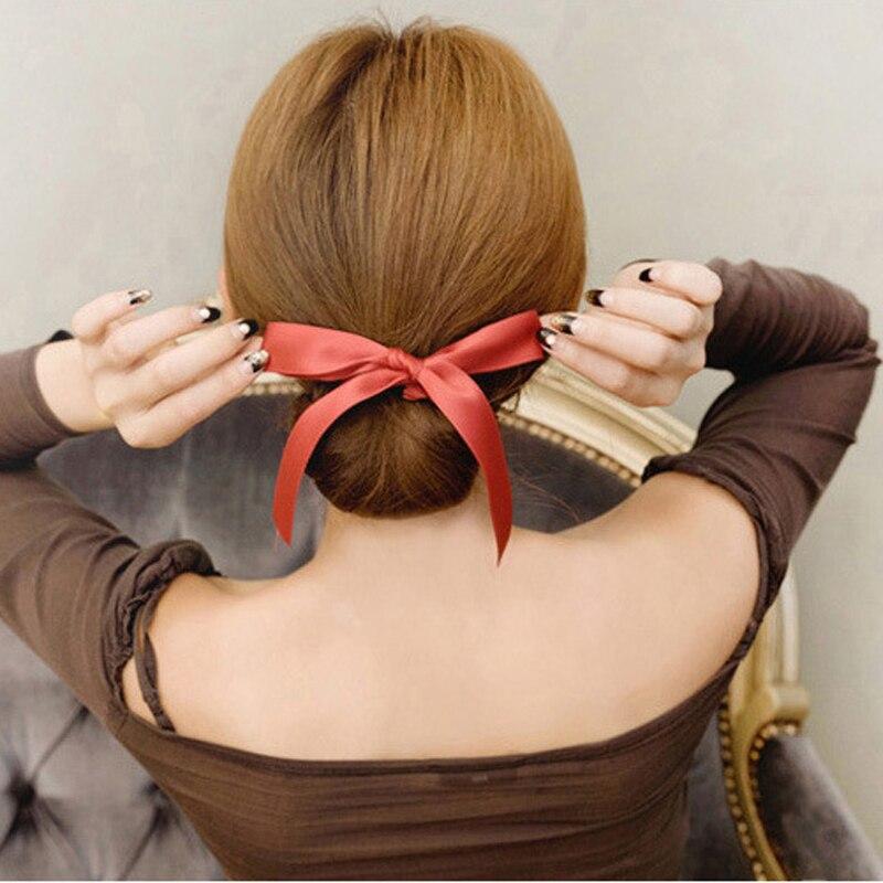 1 Pcs Mode Bowknot Stirnbänder Für Frauen Mädchen Haar Zubehör Magie Frisur Gerät Donut Haar Brötchen Haarband Styling Werkzeuge
