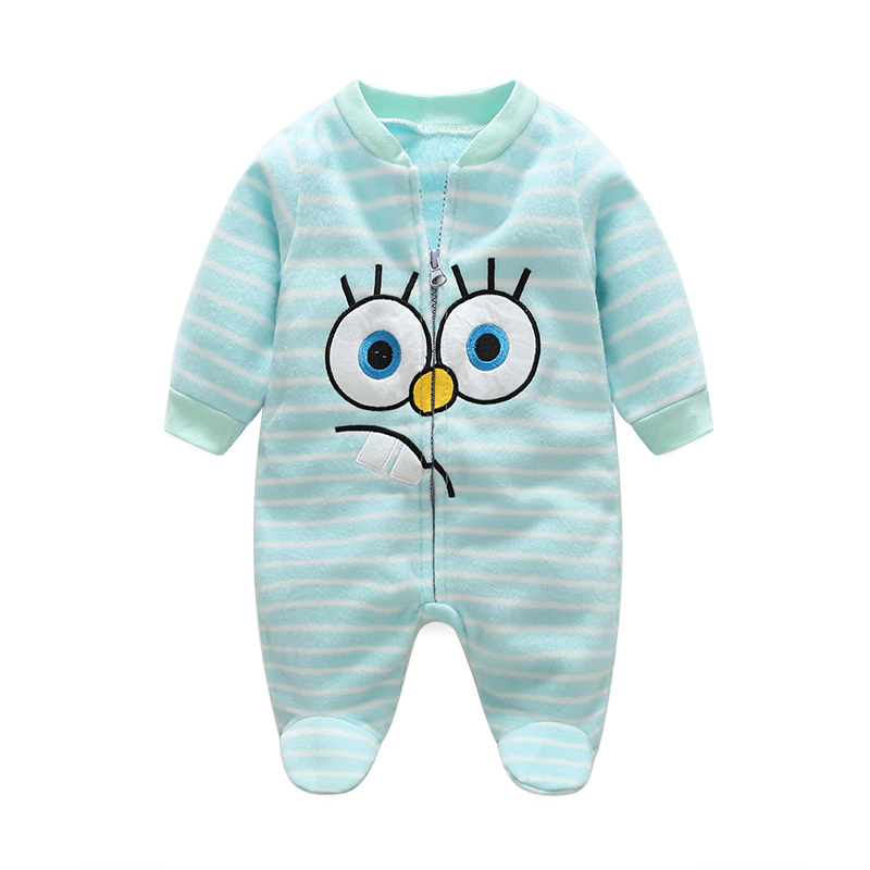 Baby Rompers Spring Baby Boy Clothes Roupas Bebe Infant Baby Jumpsuits Baby Girl Clothing Fleece Newborn Clothes Kids Costume 2pcs baby boy clothing set autumn baby boy clothes cotton children clothing roupas bebe infant baby costume kids t shirt pants