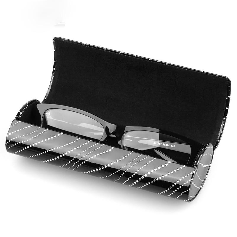 Dur Étui à Lunettes Spectacle Boîte Lunettes Cas Pour Les Femmes Fer feuille Sac Optique Myopie Boîte Ovale Aimant de Lecture D'oeil À La Main boîte