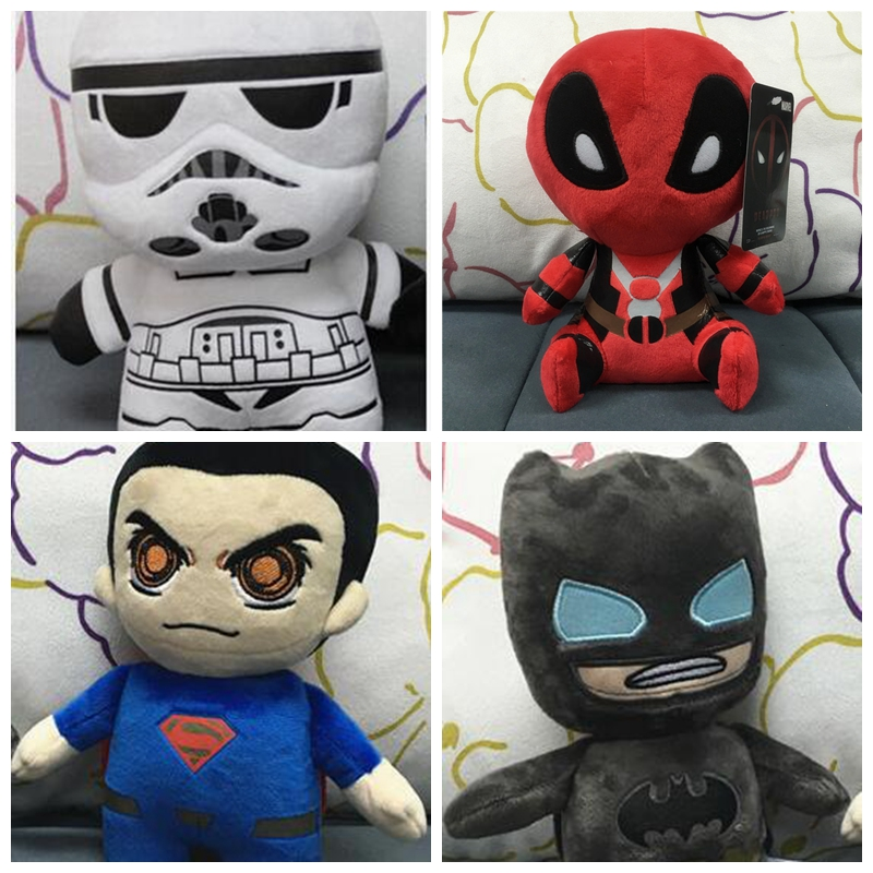 20cm MARVEL Plush SUPERMAN BATMAN DOLL STARWAR DEADPOLL PLUSH TOYS