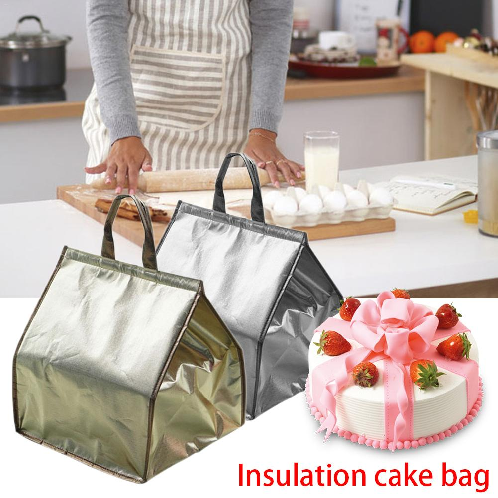 cake pizza cooler bags lunch picnic box insulated cool handbags ice pack thermo portable insulation bags spülbecken sieb