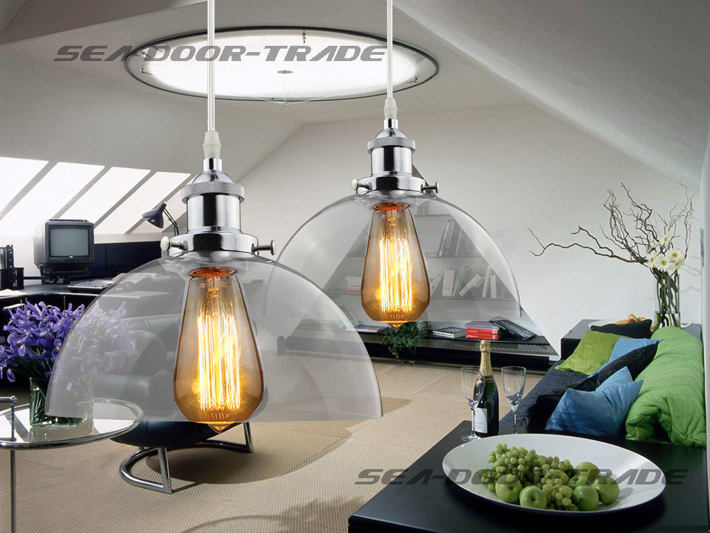 New Globe Clear Glass Vintage Retro Edison Chandelier Fitting Lamp Shade Ceiling Dining Room Led Light Fixture Chandelier Light fumat parrots shape chandelier european vintage glass shade light dining room hanging lamp pendientes lustre light fixtures