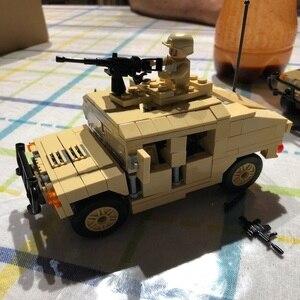 Image 3 - Décool 2111 2112 guerre M1025 Cargo voiture Hummer soldats américains jouets blocs de construction pour legos guerres militaires ensemble pour figurine LPS
