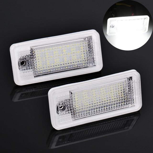 2PCS 3W Led Plate For A4 B7 Q7 Led Number License Plate Lights Bulb A B Fuse Box on
