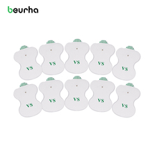 Beurha 10Pcs White Electrode Pads Digital For Tens Acupuncture Digital Therapy Machine Massager Pad Medium Frequency(China)