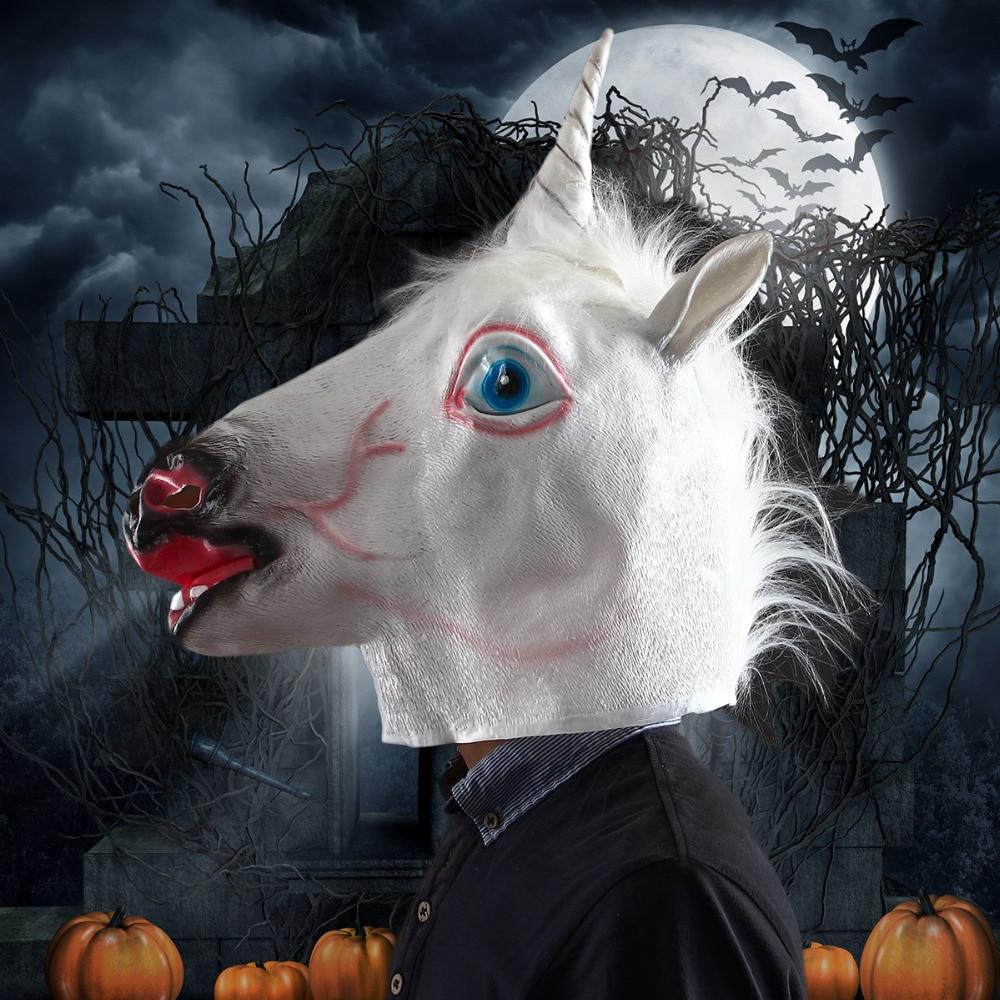 Aliexpress.com : Buy Halloween Mask White Unicorn Mask Dance ...