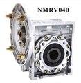 90 graus caixa de engrenagens nmrv040 sem-fim redutor de velocidade diâmetro do furo de entrada 9mm ou 11mm ou 14mm para fora diâmetro do furo 18mm