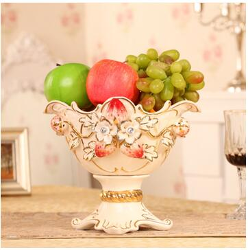 European ceramic strawberry fruit tray The sitting room decorate luxurious large bowl of furnishing articles