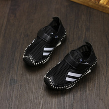Children breathable sports shoes 2017 spring autumn net cloth running shoes kids non-slip sneakers